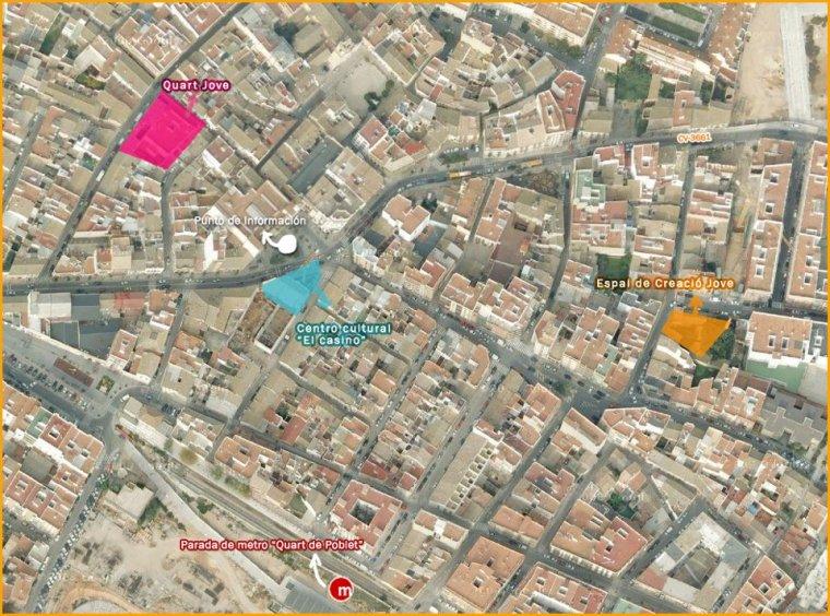mapa per arribar a QuartMetratges